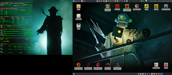 October 2016 Desktop - Arch Linux and Xfce by hamishpaulwilson