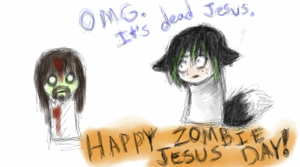 Happy Zombie Jesus Day by AnneDyari
