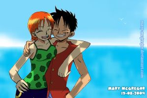 One Piece:Nami Luffy Forever by Mary-McGregor