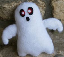 Ghost plushie by AprilMariposa