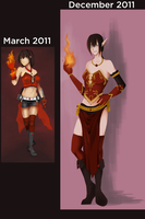 kicking my own ass: fire mage by r3nisa