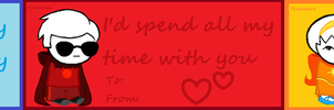 Homestuck valentines day cards by EeveeAndMudkipEpic