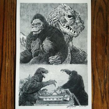 King Kong vs Godzilla by Lenzations