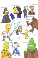 Simpson - Star wars by MorganCygnus