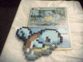 Squirtle Perler Beads by RonyeryX
