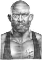 WWE Ryback Pencil Drawing by Chirantha