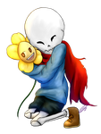 Child!Virus!Papy with Flowey [STREAM] by Jeyawue