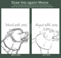 Born To Lead (Comparison Meme) (Sketches Only) by MorningAfterWolf