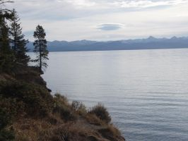 Yellowstone Lake by EdenUnderFallout