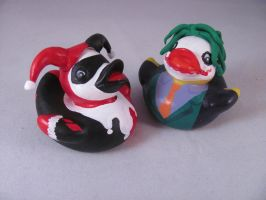 Joker and Harley Ducks by spongekitty