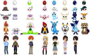 Digimon Pixels by glyfy