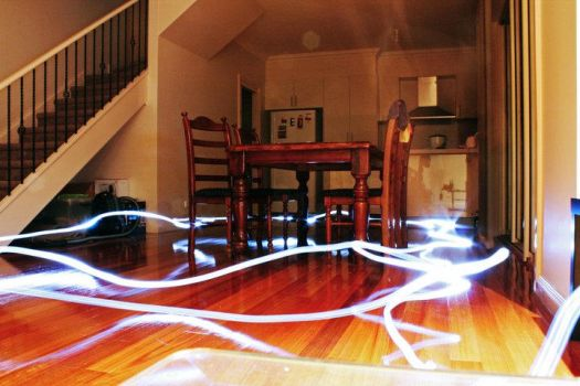 lightpainting in the kitchen by astecgold