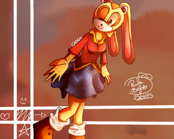 Cream the Rabbit in Autumn by pblpaula