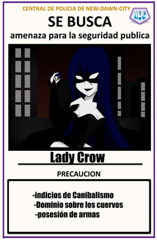 NDC-Se Busca-Lady Crow by Invaderdaniela