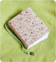 Hand stitched flower journal with Buddha charm by esther-rose-mouse