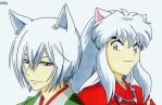 Tomoe VS InuYasha by OneColoredLily