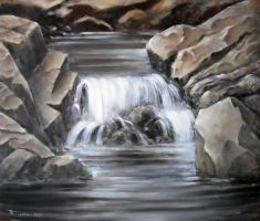 Little Waterfall Oil Paint by Boias