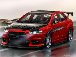 Mitsubishi Lancer Evolution-X by aykutfiliz