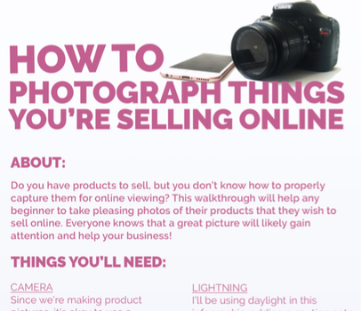 How To Photograph Things You're Selling Online by TheArta