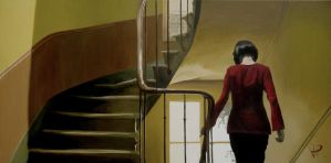Amelie descending stairs by phillhatton