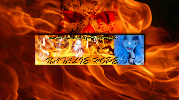 Natalie Hope - YouTube channel art by metalwraith666