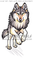 Swiftly Running Wolf Color Tattoo by WildSpiritWolf