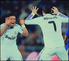 CR7 and Marcelo by ASHOOR