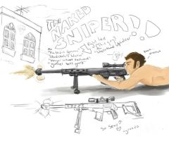 OC - THE NAKED SNIPER by RaowenBlackbird