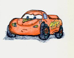 Lightning McQueen - Angry by jade-beaver