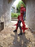 Vash posing in an alleyway by Candyfloss-Unicorn