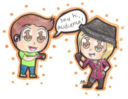 Commission: Chibi Tobuscus and Dawnald by Alison-Earth-Ninja
