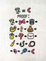 Link's Awakening Trading Sequence cross stitch by merrywether