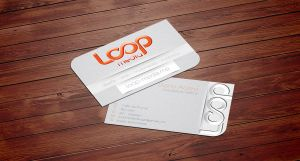 loop media business card by VickyVictrola