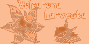 Volcarona and Larvesta by immortal-spud-thief