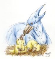 Golduck n' Pdyducklings by AnnaJ