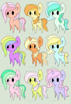 Pastel pony adopts 5/9 OPEN | LOWERED PRICES!! by Mintys-old-account