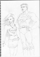 Superman and Supergirl by arielmc2
