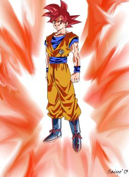 Son Goku Super Saiyan Dios by Saiyo82