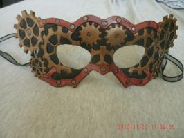 Hand Tooled Leather Steampunk Mask by MurdocsLuver