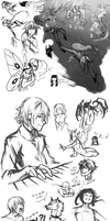 Sketchdump #02 by Kuro2Kazu