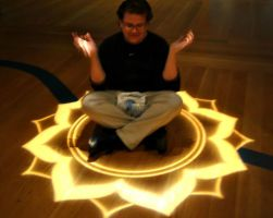 Meditating in Lotus Flower with Hadith in My Lap by LOSTgnosis