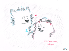 Stay Awesome, Friend. - Gift for HeroineofWolves by PeaceWolfCreations