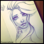 Moleskine Sketch: Beauty and the Crown by FROZENVIOLINIST