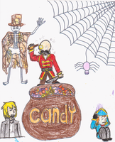 coloring book plus Candle Cove by Bloodstainedhowl