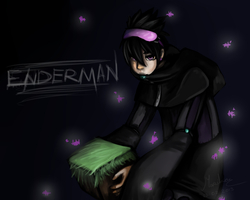 Human Enderman by waterloks