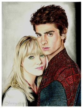 The Amazing Spider-Man~Peter Parker and Gwen Stacy by TinniTheTwilightGirl