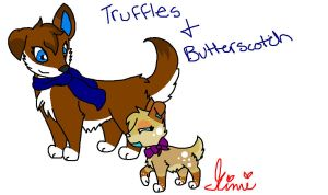 Truffles and Butterscotch by MimiTheFox
