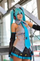 Hatsune Miku cosplay 3 by mila-tiemy