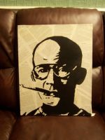 Hunter S. Thompson Stencil by Zombie-Pacman