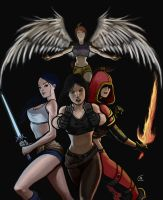 The Heroines of United Souls by Branded-Curse